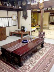 日本家屋とキリム